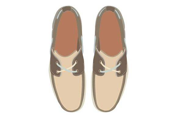 Men's Boat Shoes - Illustrations