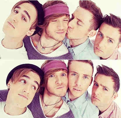 The boys of Mcfly...Tom is on the left...luv him