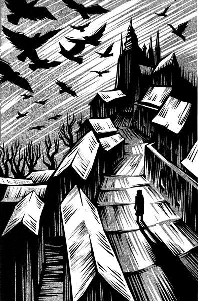 "Vladimir Zimakov - Illustration from ""The Golem"""