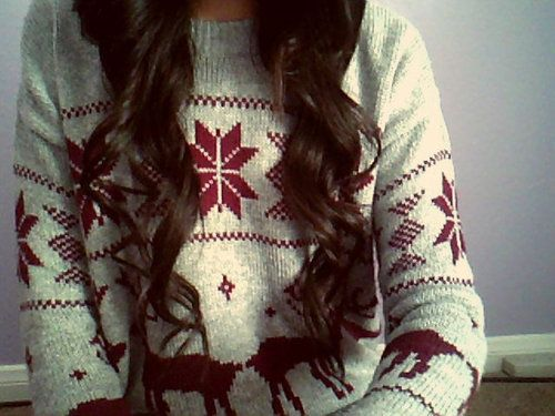 Christmas sweater please.