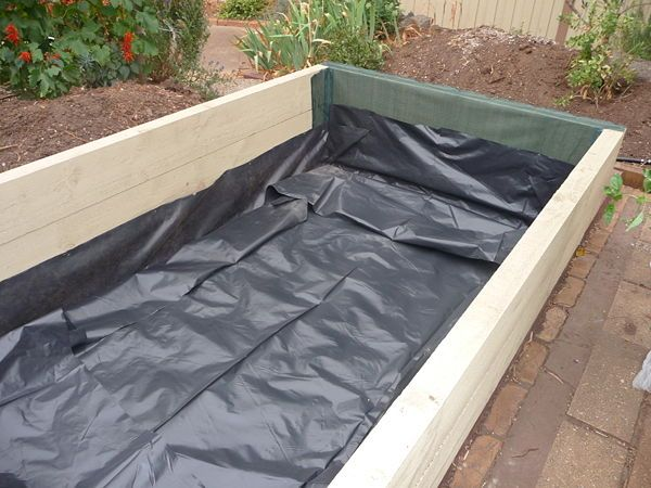 Raised pond liner house of fishery lovers for Diy pond liner ideas