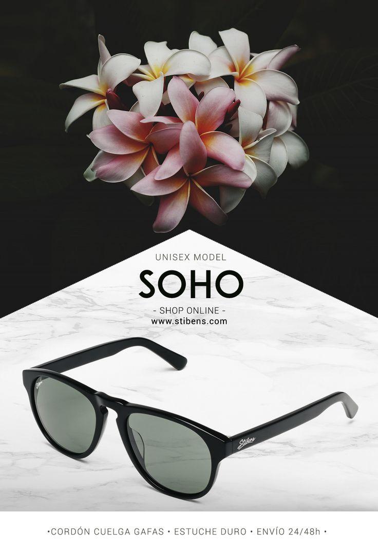 SOHO is the new black! Colección Otoño 📸 SOHO, Gafas de Sol Stibens, consíguelas en www.stibens.com 🔸Lentes polarizadas UV400 🔸Cordón cuelga gafas 🔸Estuche duro 🔸Cristal Antirayado 🔸Montura de acetato #inspiredbythesun #shopping #moda #stibens #gafasdesol #sunglasses #fashion #moda #complementos #lifestyle #tendencias