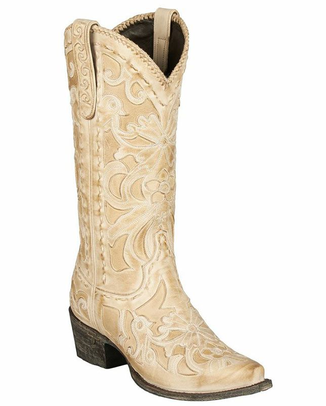 "Lane Women's 13"" Robin Distressed Bone Snip Toe Boots    Casual Outfits for women cowgirl boots botas #countrygirl #CountryFashion #countryoutfits drysdales.com #Fall2015 vintage retro buck-stitched laced lacing ivory inlay ""handmade leather boots"" fashion rustic country girl boots wedding special occasions"