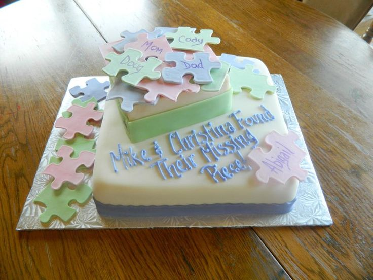 Missing Pieces Adoption Cake