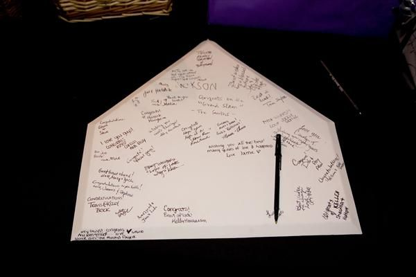 Home Plate Wedding Guest Book