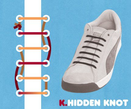 15 Cool Ways To Tie Your Cyclone Health Shoelaces: Hidden Knot