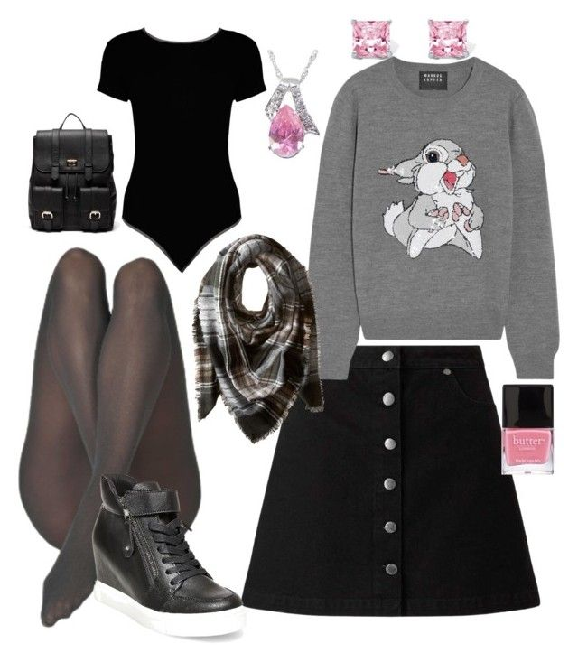 """""""Skirt to work"""" by pinnulinen on Polyvore featuring Miss Selfridge, Boohoo, Markus Lupfer, Sole Society, Steve Madden, Palm Beach Jewelry, Butter London and Vecceli"""