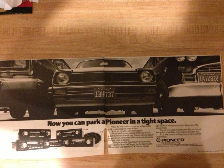 1981 Pioneer car stereos. Models: UKP-4200, UKP-7200, UKP-5600, UKP-2200, UKP-5200 and TS-695 speakers.  Rolling Stone, September 17, 1981