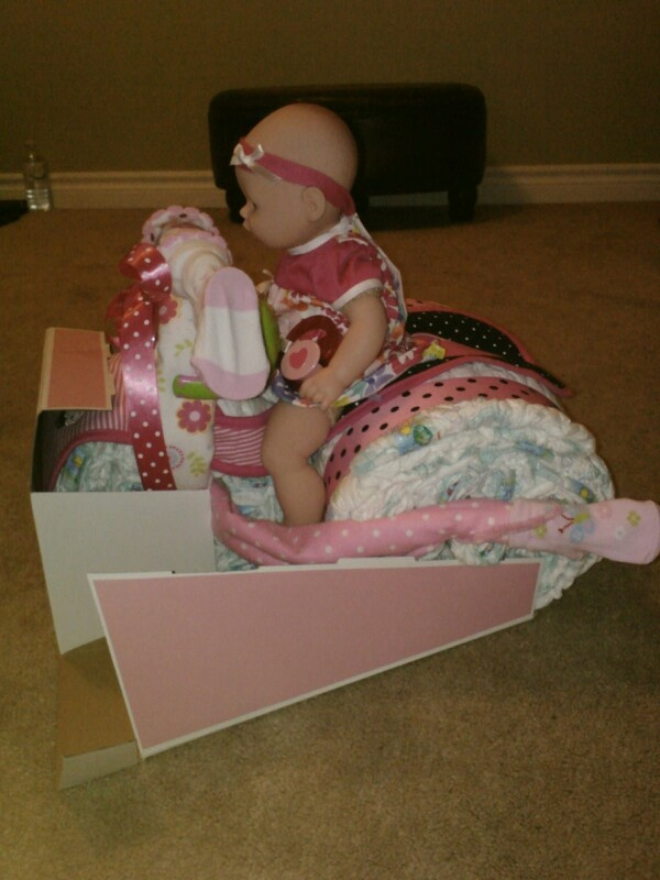Tricycle Shaped Diaper Cake-Girls