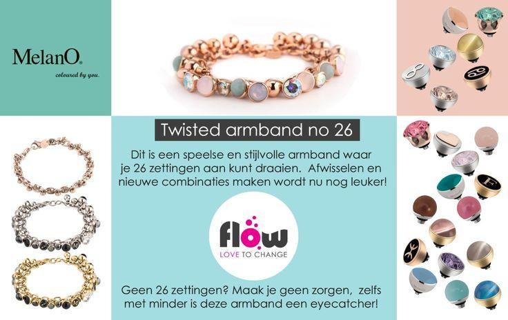 De nieuwste hit van Melano sieraden: De Twisted armband No. 26! Heb jij hem al?