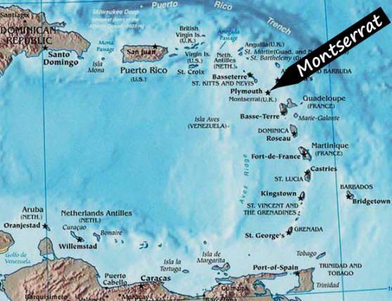 Best Montserrat Images On Pinterest Caribbean British West - Montserrat map