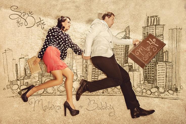 fun save the date idea via Lovebird Productions