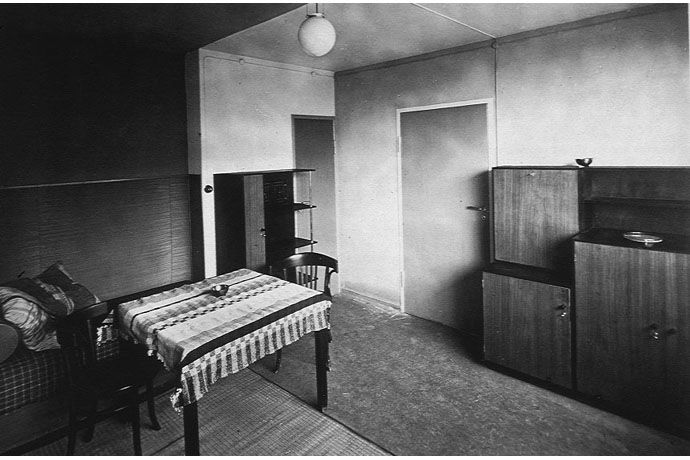 Quartiere Torten, Dessau, interno con arredi dei laboratori Bauhaus