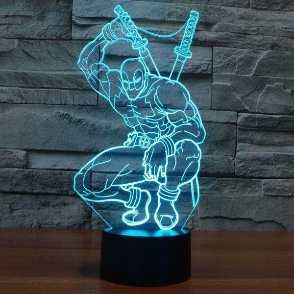 Lovely CREATIVE Deadpool Star D LED Light Lamp Size X X CM Are