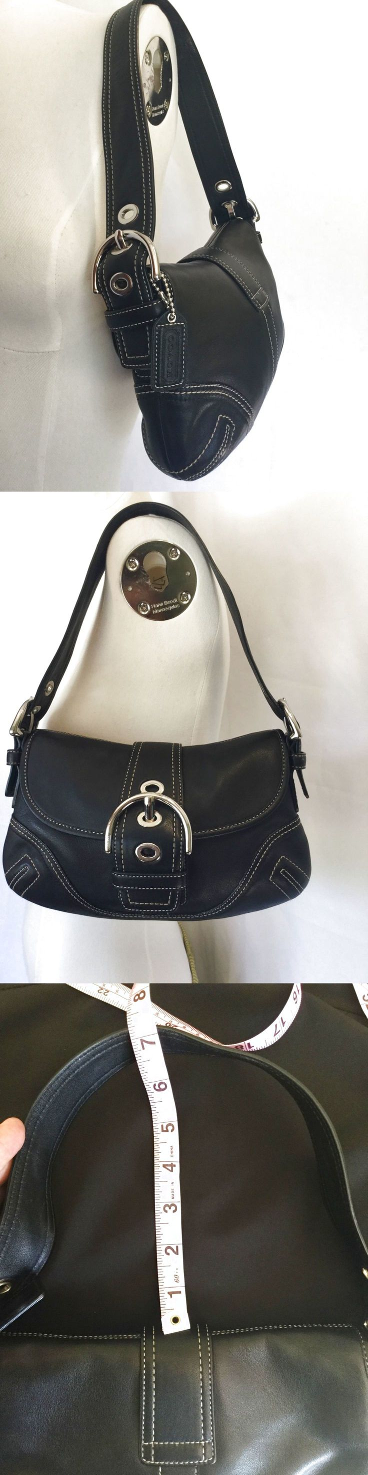 Coach Small Purse Handbag Black Shoulder Bag $40.0
