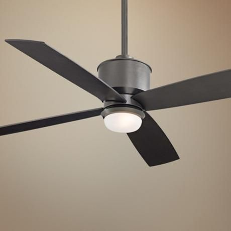 52 minka aire strata smoked iron ceiling fan with light kit