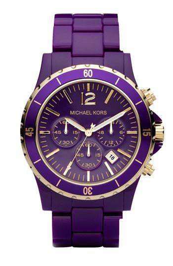 Michael Kors purple & gold watch