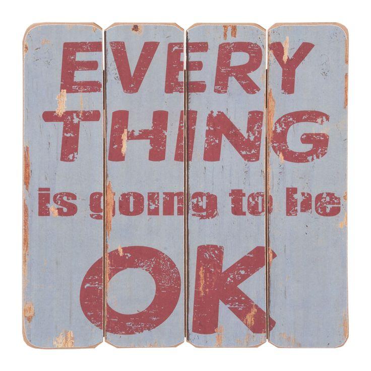 Cedule EVERYTHING OK. Cena: 336 Kc. Nakupujte na www.almara-shop.cz.