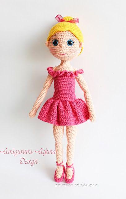 Amigurumi Balerin Fare Yapilisi : Amigurumi Ballerina Doll http://amigurumiaskina.blogspot ...