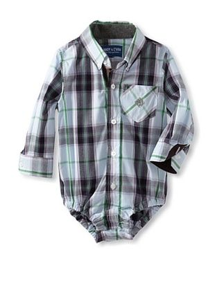 61% OFF Andy & Evan Baby Plaid Shirtzie (Light/Pastel Blue)