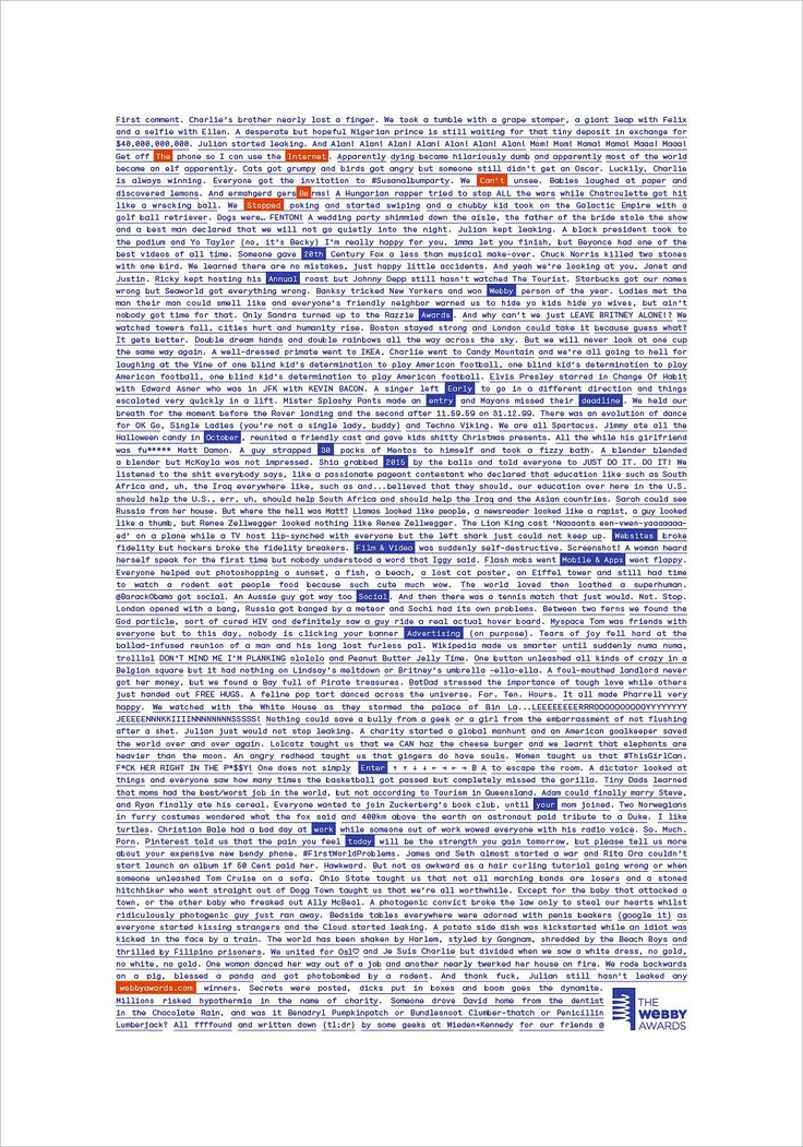 Wieden + Kennedy Tells the Entire History of the Internet in a Single Long-Copy Print Ad   Adweek