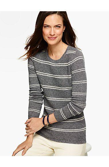 Classic Crewneck Sweater - Stripes - Talbots