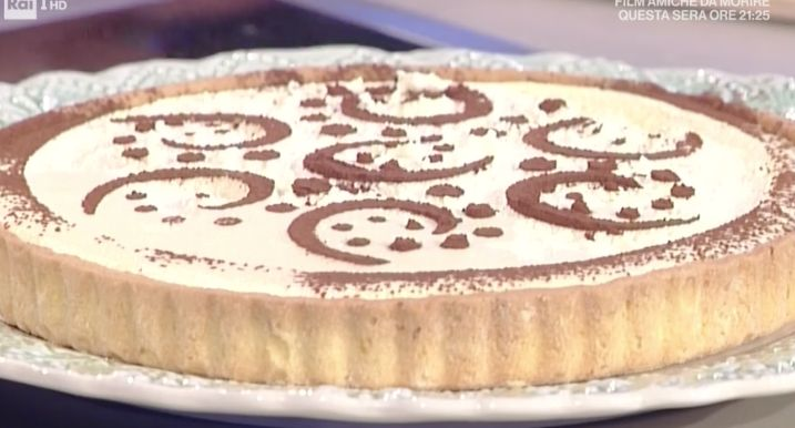 La ricetta della crostata tiramisù di Anna Moroni il dolce di oggi 9 maggio 2017 dalle ricette La prova del cuoco