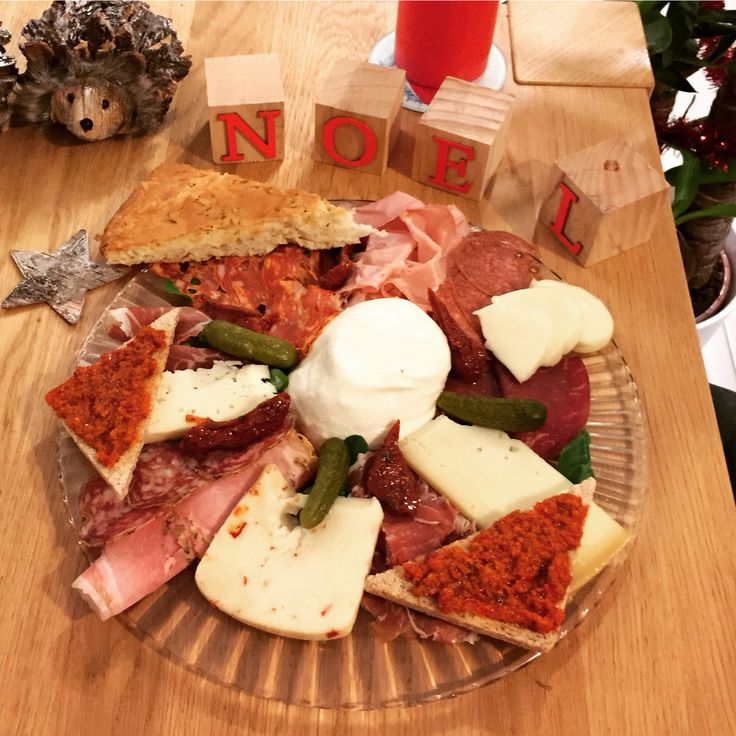 Assiette italienne : charcuterie et fromages