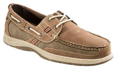 World Wide Sportsman Lake Front 2-Eye Boat Shoes for Men - Brown - 10.5