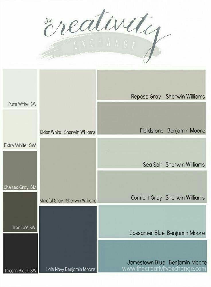 "Benjamin Moore ""Gossamer Blue"".... so pretty neutrals ~ ❤"