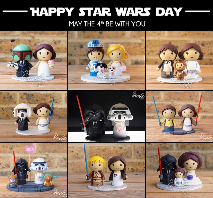 Happy Star Wars Day: 1000+ Images About Cute Star Wars Wedding Cake Toppers By