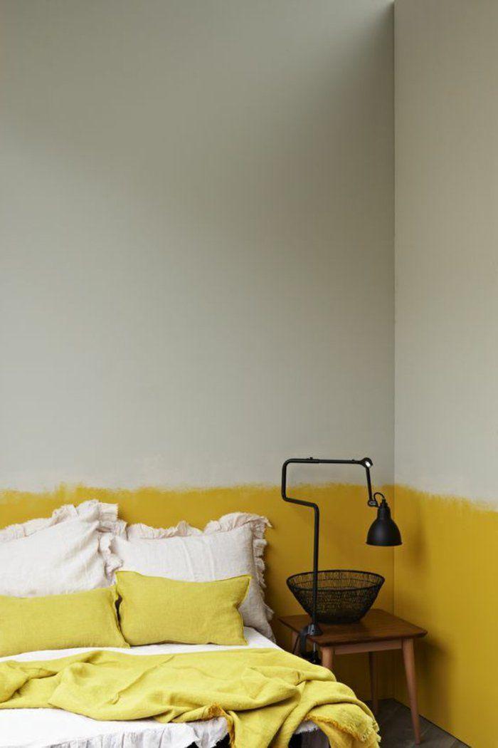 comment peindre un mur peinture de chambre en jaune et blanc