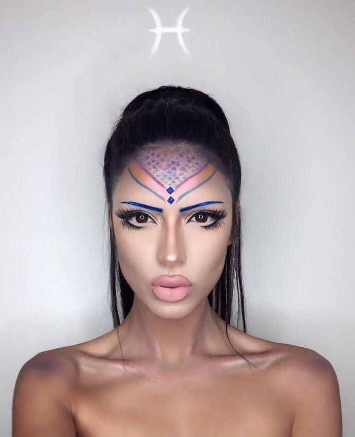 Vergeet het dagelijks controleren van je horoscoop.Instagram make-up goeroe, Setareh Hosseini, heeft schoonheid en astrologie gecombineerd om een adembenemende uitstraling te produce