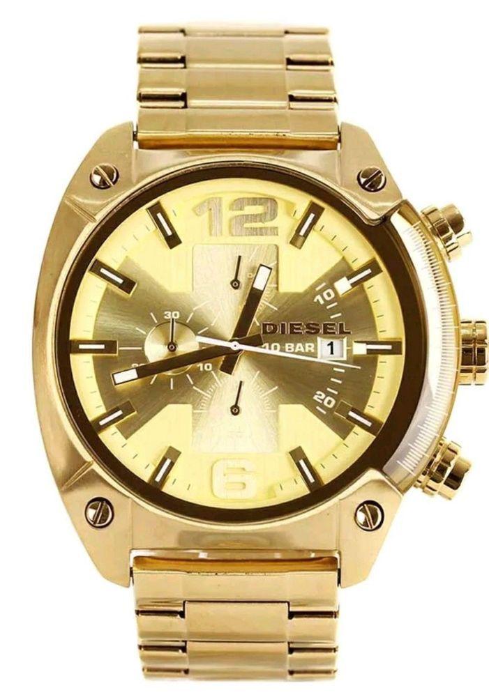 6b20f930bf2a Diesel Men s Overflow DZ4299 Analog Gold Stainless Steel Bracelet Casual  Watch  Diesel  Casual
