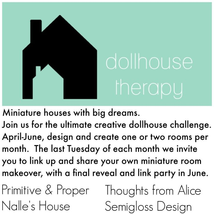 Dollhouse Therapy: A New Creative Challenge - Primitive and Proper