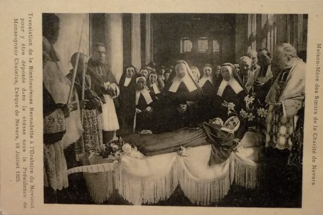 st bernadette | wanted to post this photo of the precious remains of Saint Bernadette ...