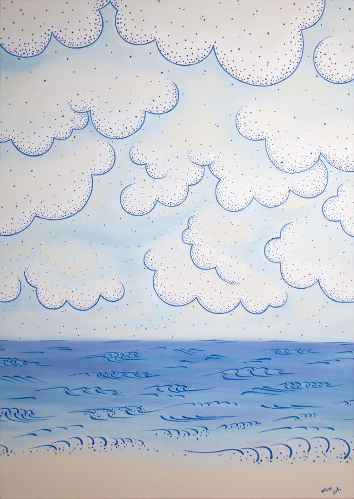 Pittura   Elisa Viotto   orizzonte sul mare   oil on canvas