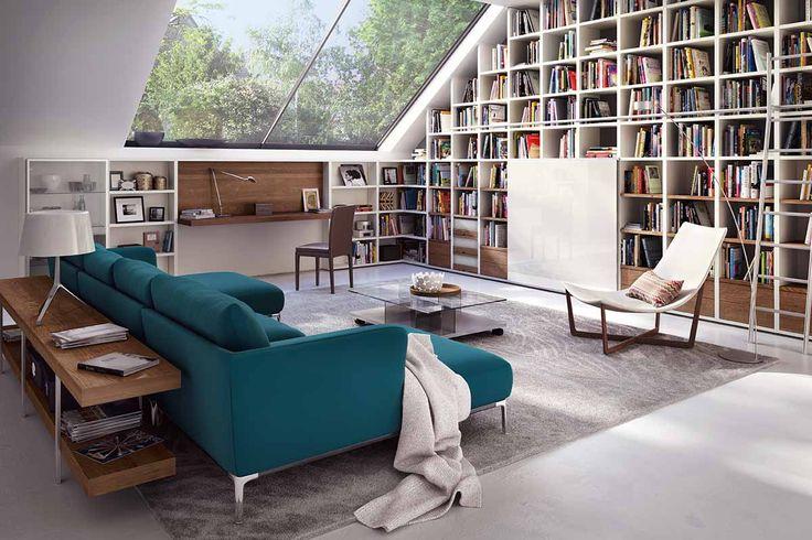 Hülsta Mega Design steht für maßgeschneiderte Regalsysteme in Wohnzimmer und Bibliothek. Wohnwände, Regale oder TV-Möbel, Mega Design ist flexibel.