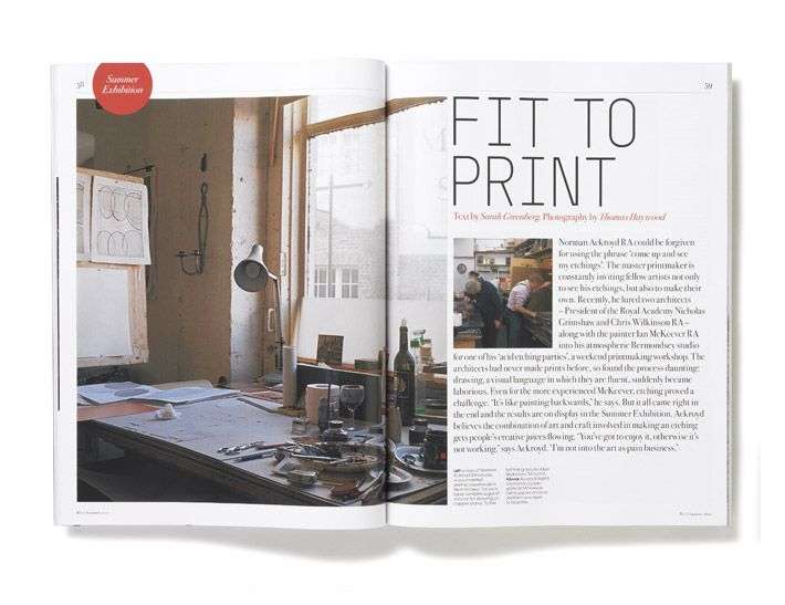 Royal Academy Magazine spread | #editorial #layout #typography