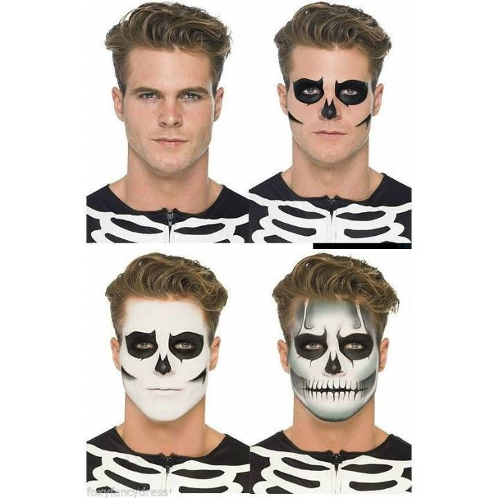 Day of the Dead Zombie Make Up Kit Skeleton Halloween Fancy Dress Face Paint