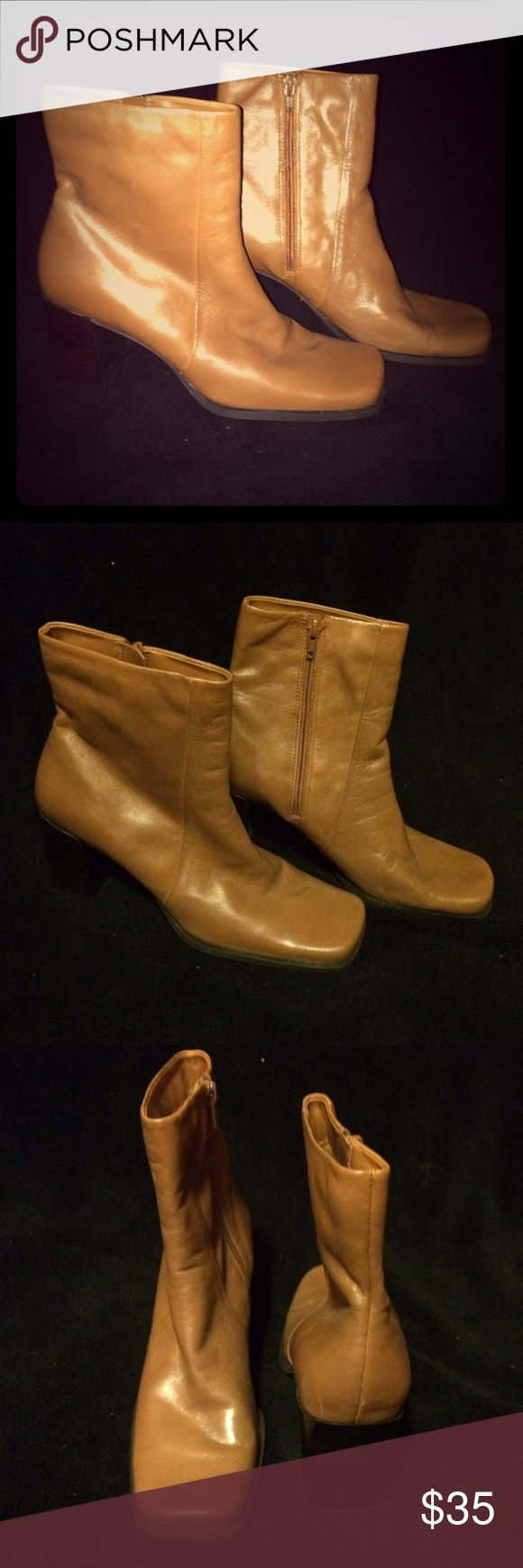 Nine & Co. Tan Leather Ankle Boots Brand new. Never worn. Nine & Company Shoes Ankle Boots & Booties