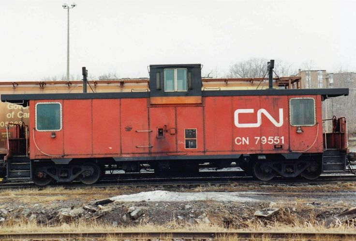 Pointe St. Charles caboose taken by John Young at Ste-Foy yard in 1994.