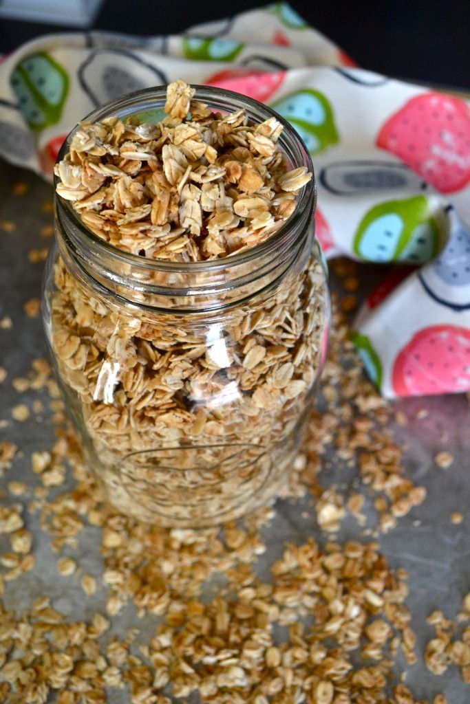 Here is a simple granola recipe with no fuss. A great base to make your own by adding whatever you like!