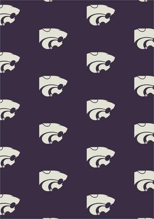 "Kansas State Wildcats 7' 8"" x 10' 9"" Team Repeat Area Rug (also smaller)"