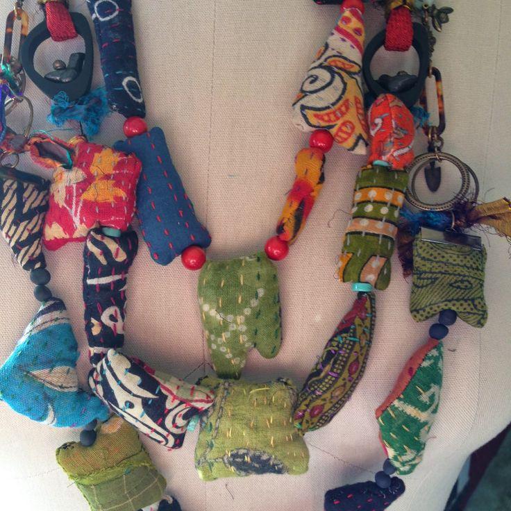 Gayle Ortiz: Kantha Cloth Jewelry