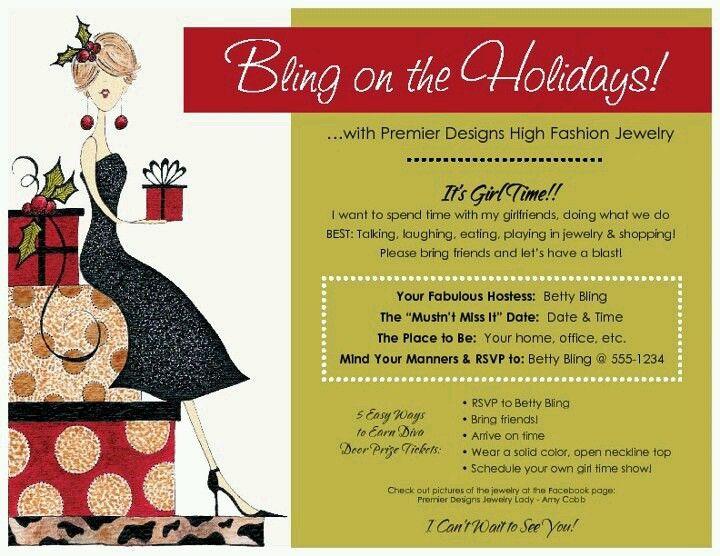Jewelry Party Invite Idea .