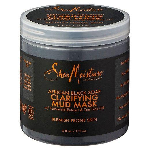 SheaMoisture African Black Soap Clarifying Mud Mask – Tamarind & Tea Tree Oil – 6oz