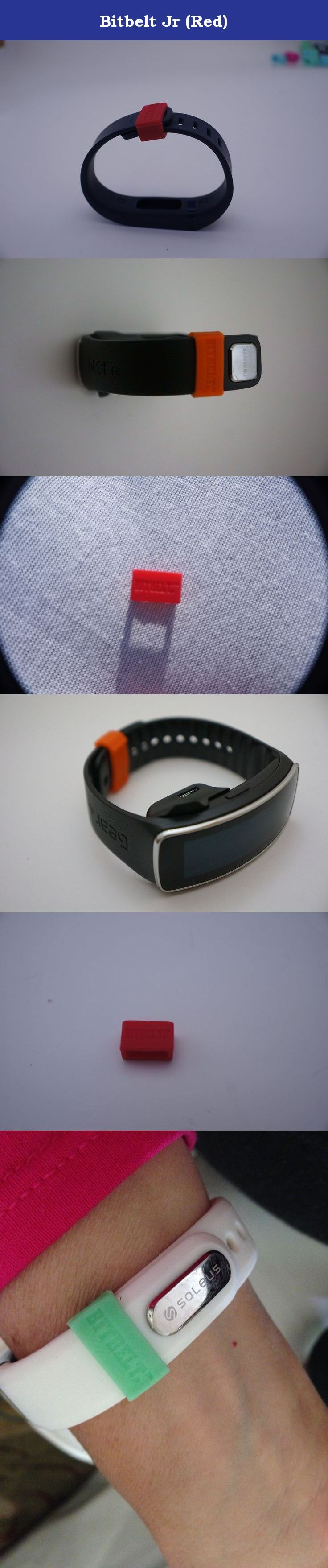 Bitbelt Jr (Red). BITBELT JR CREATED TO PROTECT YOUR THINNER WIDTH WRIST WORN FITNESS TRACKER AND CHILD SIZE MAGIC BAND. DONT RELY ON A SMALL PLASTIC CLIP TO SECURE YOUR INVESTMENT TO HEALTH OR YOUR VACATION.WE ARE THE CHEAPEST INSURANCE AVAILABLE. Your bracelet will come unclasped. We are the cheapest insurance available to keep yours from being lost.