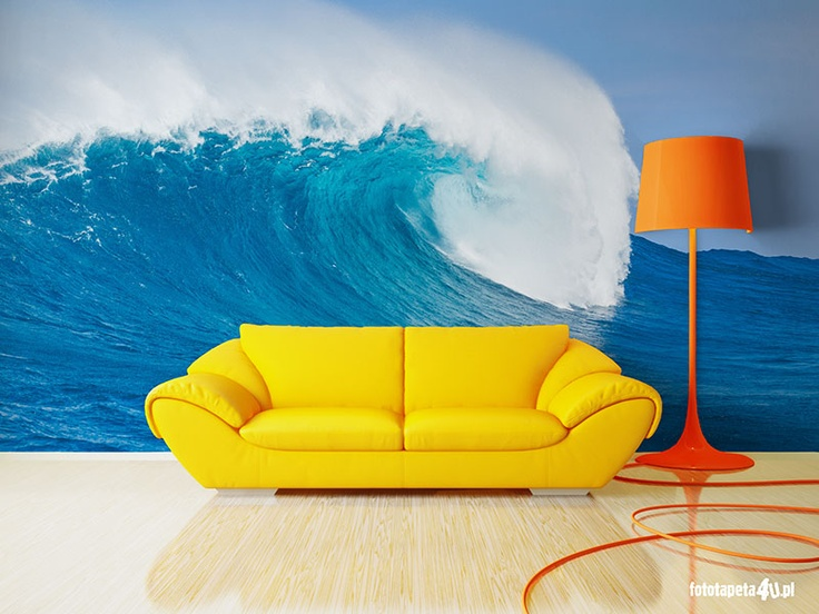 Big wave wallpaper by Fototapeta4u.pl