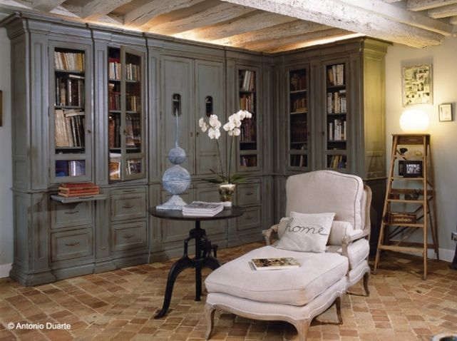 1000 id es sur le th me style cottage anglais sur pinterest cottages anglai - Deco bibliotheque salon ...